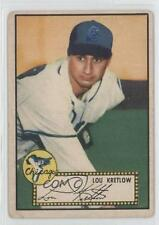 1952 Topps 42.1 Lou Kretlow (Red Back) Chicago White Sox RC Rookie Baseball Card