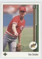 1989 Upper Deck #23 Van Snider Cincinnati Reds RC Rookie Baseball Card
