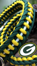 Jagged Ladder Knot Army grade Paracord Dog Collar, Green Bay Packers, Go Team!!