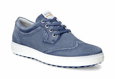 ECCO 2016 Mens Casual Hybrid 2 Navy Hydromax Leather Golf Shoes