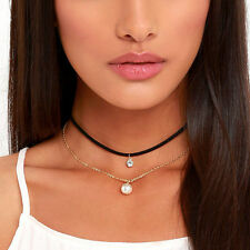 New Popular Chain Pearl Necklace Gift Décor Necklace Jewelry Double Choker Punk