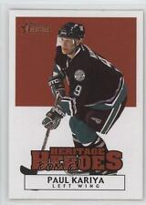 2000-01 Topps Heritage Heroes HH20 Paul Kariya Anaheim Ducks (Mighty of Anaheim)
