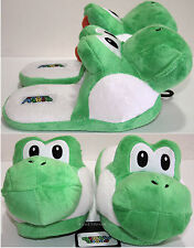 NEW Super Mario Bros Japanese GREEN YOSHI ADULT Slippers PLUSH HOUSE SHOES S-M