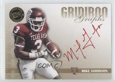 2009 Press Pass Signature Edition #GG-MG Mike Goodson Texas A&M Aggies Auto Card