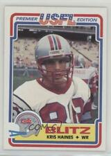 1984 Topps USFL #20 Kris Haines Chicago Blitz (USFL) Rookie Football Card