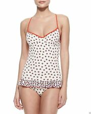 $173 MARC JACOBS XS/L White Floral Ruffled One Piece Maillot SWIMSUIT Chrissie