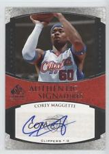 2005-06 SP Signature Edition AS-CM Corey Maggette Los Angeles Clippers Auto Card