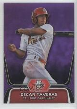 2012 Bowman Platinum Prospects Retail Purple Refractor #BPP51 Oscar Taveras Card