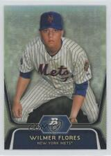 2012 Bowman Platinum Prospects Refractor #BPP12 Wilmer Flores New York Mets Card