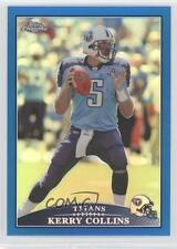 2009 Topps Chrome Blue Refractor #TC61 Kerry Collins Tennessee Titans Card