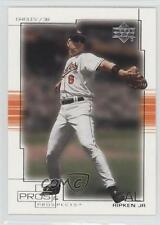 2001 Upper Deck Pros & Prospects #20 Cal Ripken Jr Baltimore Orioles Jr. Card