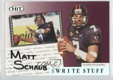 2004 SAGE Hit The Write Stuff #4 Matt Schaub Atlanta Falcons Virginia Cavaliers