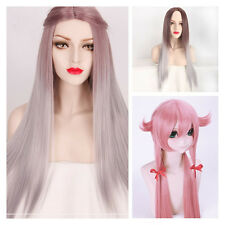 100cm Womens Full Wig Wavy Long Straight Hair Cosplay Costume Party Anime Wigs