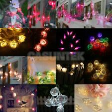 Battery Powered 10 LED String Fairy Lights Party Wedding Decor 12 Types
