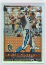 1996 Topps Chrome Refractor #22 Kerry Collins Carolina Panthers Football Card