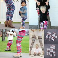 Family Matching Floral Pants Mother Baby Women Kids Stretchy Leggings Trousers