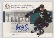 2004-05 SP Authentic Sign of the Times #ST-JL Joffrey Lupul Auto Hockey Card