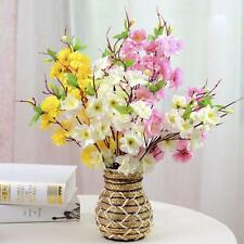 2Pcs 41cm Artificial Cherry Plum Spring Peach Blossom Flower Wedding Decoration