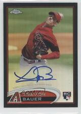 2012 Topps Chrome Rookie Autograph Black Refractor #TB Trevor Bauer Auto Card