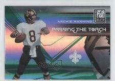 2007 Donruss Elite Passing the Torch Green #PT-7 Archie Manning Football Card