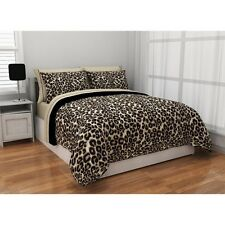 Queen Bedding Set Comforter Sheets Bed In a Bag Reversible Animal Print Cheetah