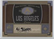 2012 SP Signature Collection Autographed LAA5 Wes Hatton Los Angeles Angels Auto