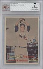 1957 Topps #277 Johnny Podres BVG 7 Brooklyn Dodgers Baseball Card