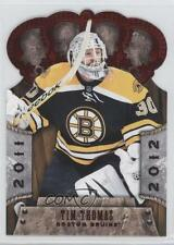 2011-12 Panini Crown Royale Red #5 Tim Thomas Boston Bruins Hockey Card