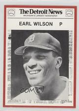1981 Detroit News Tigers Boys of Summer 100th Anniversary #51 Earl Wilson Card