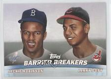 2001 Topps Combos #TC20 Jackie Robinson Larry Doby Baseball Card