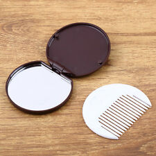 1pc Folding Pocket Chocolate Cookie Shaped Makeup Cosmetic Compact Mirror New
