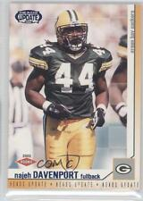 2002 Pacific Heads Update Blue #62 Najeh Davenport Green Bay Packers Rookie Card