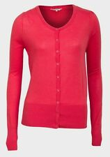 Womens Cardigan Size 8 10 12 16 New Ladies Carmine Red Lightweight part Cotton