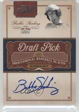 2011 Playoff Prime Cuts Draft Pick Signatures #BST Bubba Starling Auto Card
