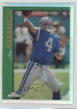 1997 Topps Chrome Refractor #R79 Jim Harbaugh Indianapolis Colts Football Card