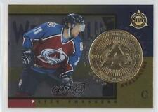 1997 Pinnacle Mint Collection Gold Team 3 Peter Forsberg Colorado Avalanche Card