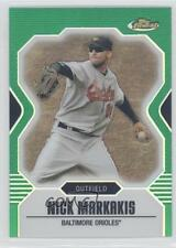 2007 Topps Finest Green Refractor #107 Nick Markakis Baltimore Orioles Card