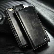 Luxury Leather Magnetic Flip Card Wallet Cover Case For Various Mobile Phones R