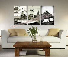 3 Piece Canvas Art Home Decor Canvas Eiffel Tower Wall Art Painting Black&White