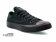 Converse Chuck Taylor All Star Ox Low Top Black Mono Canvas Unisex Trainers. New