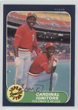 1986 Fleer #636 Vince Coleman Willie McGee St. Louis Cardinals Baseball Card