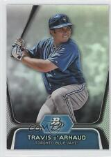 2012 Bowman Platinum Prospects #BPP9 Travis d'Arnaud Toronto Blue Jays Card