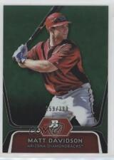 2012 Bowman Platinum Prospects Green Refractor BPP96 Matt Davidson Baseball Card