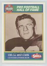 1990 Swell Pro Football Hall of Fame #71 Chicago BearsTeam Chuck Bednarik Card