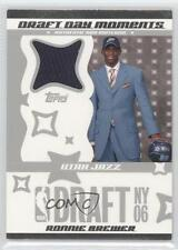 2006-07 Topps Big Game Draft Day Moments Jersey #DDMJ-RB Ronnie Brewer Utah Jazz