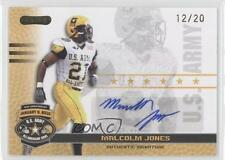 2010 Razor US Army All-American Bowl Autographs Gold #BA-MJ2 Malcolm Jones Auto