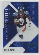 2008 Leaf Certified Materials Potential Blue #CP-19 Eddie Royal Denver Broncos