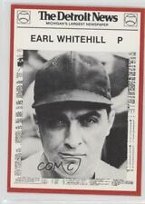 1981 Detroit News Tigers Boys of Summer 100th Anniversary 31 Earl Whitehill Card