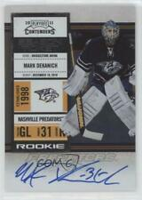2010 Panini Playoff Contenders #144 Rookie Ticket Mark Dekanich Auto Hockey Card