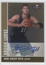 2008-09 Topps Co-Signers Rookie Gold Autographs #110 Brook Lopez Auto Card